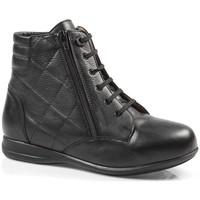 Schoenen Dames Hoge sneakers Calzamedi SPECIALE HUID DIABETES LAARZEN W BLACK