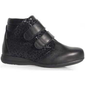 Schoenen Dames Mocassins Calzamedi BOOTS  DUBBELE HUID PRINT W BLACK