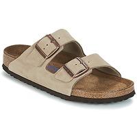 Schoenen Dames Leren slippers Birkenstock ARIZONA SFB Taupe
