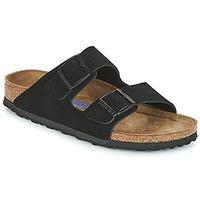 Schoenen Dames Leren slippers Birkenstock ARIZONA SFB Zwart