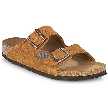 Schoenen Dames Leren slippers Birkenstock ARIZONA SFB Bruin