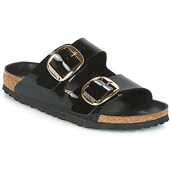Schoenen Dames Leren slippers Birkenstock ARIZONA BIG BUCKLE Zwart
