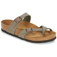Schoenen Dames Leren slippers Birkenstock MAYARI Grijs