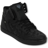 Schoenen Heren Hoge sneakers Cash Money Schoenen - CMS13 - Army Full Black