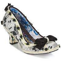 Schoenen Dames pumps Irregular Choice BISH BASH BOW Zilver / Zwart