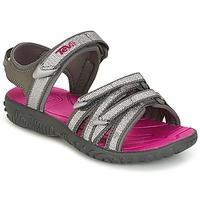 Schoenen Meisjes Sandalen / Open schoenen Teva TIRRA Zilver / Roodpaars