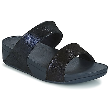 Schoenen Dames Leren slippers FitFlop SHIMMY SUEDE SLIDE Blauw