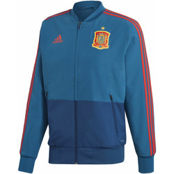 Textiel Heren Trainings jassen adidas Performance Spanje Presentation Jack Blauw / Rood