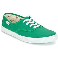 Schoenen Lage sneakers Victoria INGLESA LONA Groen