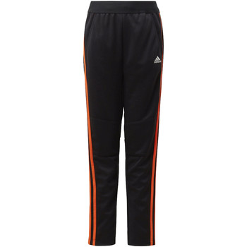 Textiel Jongens Trainingsbroeken adidas Performance Football 3-Stripes Striker Broek Zwart / Oranje