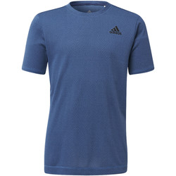 Textiel Jongens T-shirts korte mouwen adidas Performance Training Knit T-shirt blue