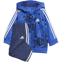 Textiel Jongens Trainingspakken adidas Performance Favorites Joggingpak Blauw / Donkerblauw