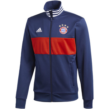 Textiel Heren Trainings jassen adidas Performance FC Bayern München 3-Stripes Trainingsjack Donkerblauw / Rood