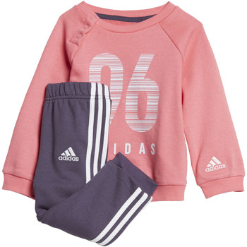 Textiel Meisjes Trainingspakken adidas Performance Terry Joggingpak Wit