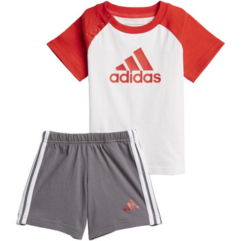 Textiel Jongens Trainingspakken adidas Performance Summer Mini-Setje Wit / Rood