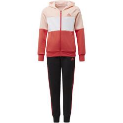 Textiel Meisjes Trainingspakken adidas Performance Trainingspak met Capuchon Roze / Wit