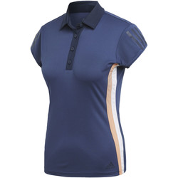 Textiel Dames Polo's korte mouwen adidas Performance 3-Stripes Club Poloshirt blue