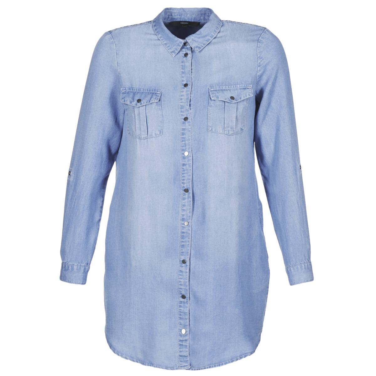 Vero Moda korte jurk vmsilla blauw