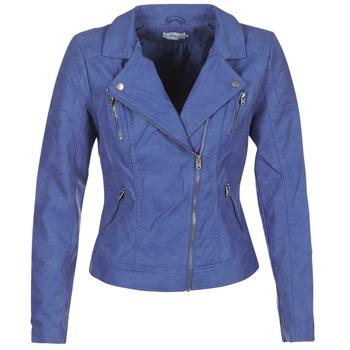 Textiel Dames Leren jas / kunstleren jas Only STEADY Blauw
