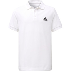 Textiel Jongens Polo's korte mouwen adidas Performance Essentials Base Poloshirt Wit