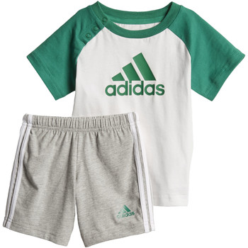 Textiel Jongens Trainingspakken adidas Performance Summer Mini-Setje Wit / Groen