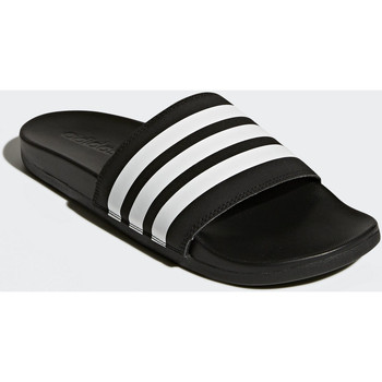 Schoenen Heren Teenslippers Adidas Essentials Adilette Cloudfoam Plus Stripes Slippers Zwart / Wit / Zwart