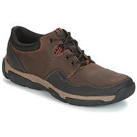 Schoenen Heren Lage sneakers Clarks WALBECK EDGE Bruin / Leer