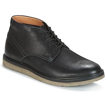 Schoenen Heren Laarzen Clarks BONNINGTON TOP Zwart / Leer