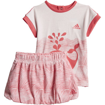Textiel Meisjes Trainingspakken adidas Performance Summer Fun Setje Roze / Wit