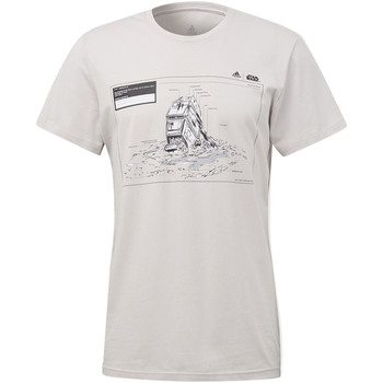 Textiel Heren T-shirts korte mouwen adidas Performance Star Wars Massive Hit T-shirt white