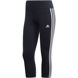 Textiel Dames Leggings adidas Performance Designed 2 Move Climalite 3-Stripes 3/4 Legging Zwart / Blauw / Wit