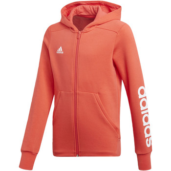 Textiel Meisjes Trainings jassen adidas Performance Essentials 3-Stripes Mid Hoodie Oranje / Wit
