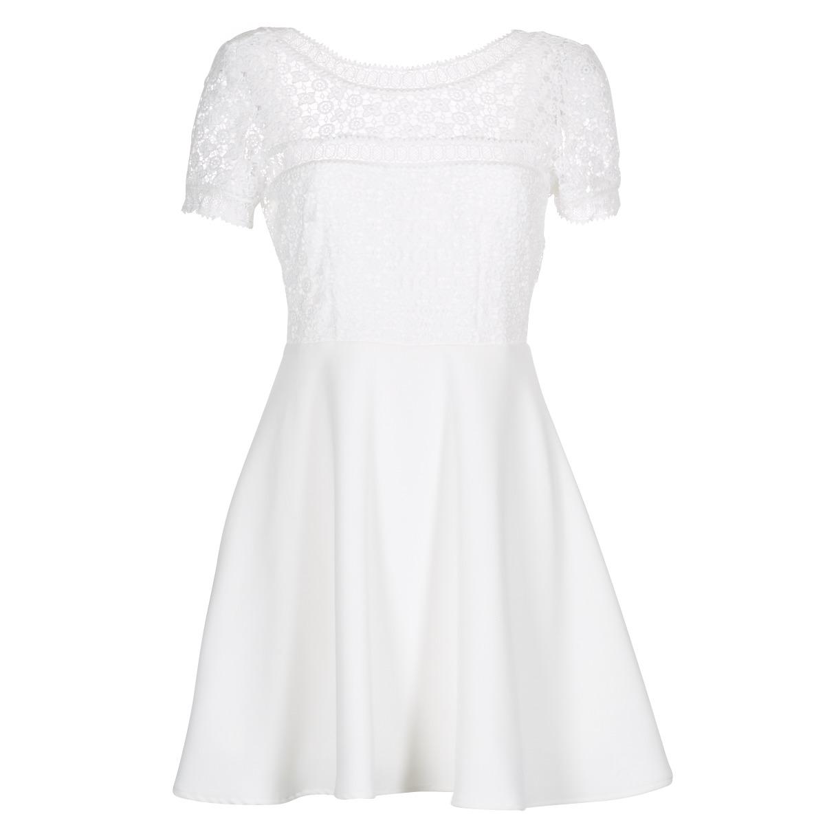 Betty London korte jurk inlove wit