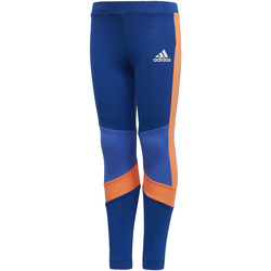 Textiel Meisjes Leggings adidas Performance Training Legging Blauw / Oranje