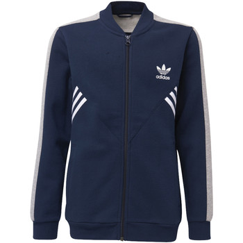 Textiel Jongens Trainings jassen adidas Originals Fleece SST Trainingsjack Donkerblauw / Grijs / Wit