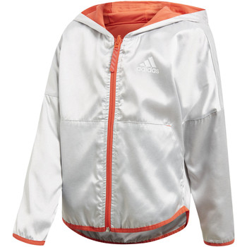 Textiel Meisjes Trainings jassen adidas Performance Reversible Jack Zilver / Rood / Wit