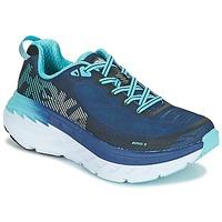Schoenen Dames Running / trail Hoka one one BONDI 5 Blauw / Zwart
