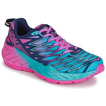 Schoenen Dames Running / trail Hoka one one W CLAYTON 2 Blauw / Roze