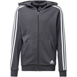 Textiel Jongens Trainings jassen adidas Performance Essentials 3-Stripes Hoodie Grijs / Wit