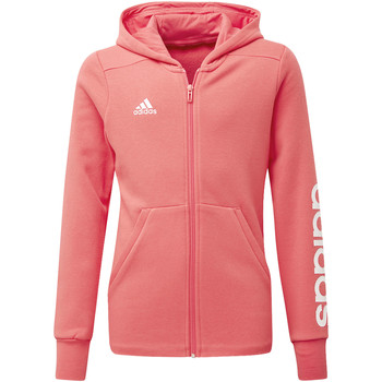 Textiel Meisjes Trainings jassen adidas Performance Essentials 3-Stripes Mid Hoodie Wit