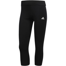 Textiel Dames Leggings adidas Performance Response 3-Stripes 3/4 Legging Zwart / Wit