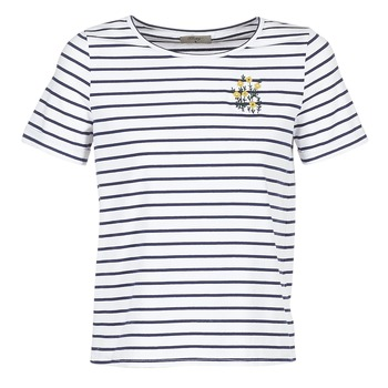 Textiel Dames T-shirts korte mouwen Betty London INNAMOU Wit / Marine