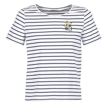 Textiel Dames T-shirts korte mouwen Betty London INNAMOU Wit / Marine