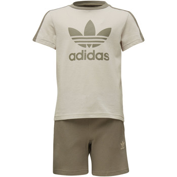 Textiel Jongens Setjes adidas Originals Fleece Short en T-shirt Set Bruin