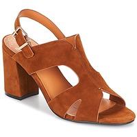 Schoenen Dames Leren slippers Bocage PAULI Bruin