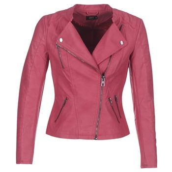 Textiel Dames Leren jas / kunstleren jas Only AVA Roze