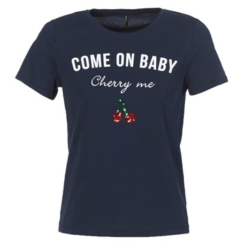 Textiel Dames T-shirts korte mouwen Only KITA Marine
