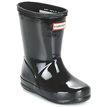 Schoenen Meisjes Regenlaarzen Hunter KIDS FIRST CLASSIC GLOSS Zwart