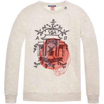 Textiel Heren Truien Scotch & Soda Ams blauw sweat with double layer e combo b Beige
