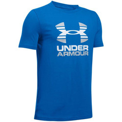 Textiel Kinderen T-shirts korte mouwen Under Armour UA Two Tone Logo SS Kids Tee 1298292-907